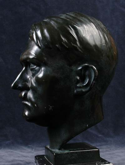 Antique Bronzed (Spelter) Bust of Adolf Hitler Signed By Schmidt-Hofer