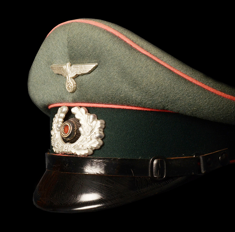 Peak Visor Cap. Elite Panzer-Abteilung 65. Double Erel. Named.