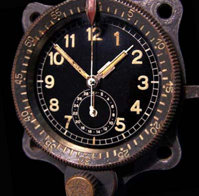 ME109 Luftwaffe Aircraft Clock. Junghans FL 23885. Version 2.