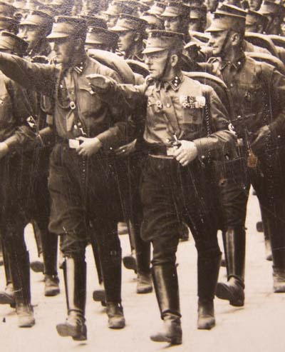 SA  Photograph. Leaders March. Nuremberg Rally 1933. Great Detail.