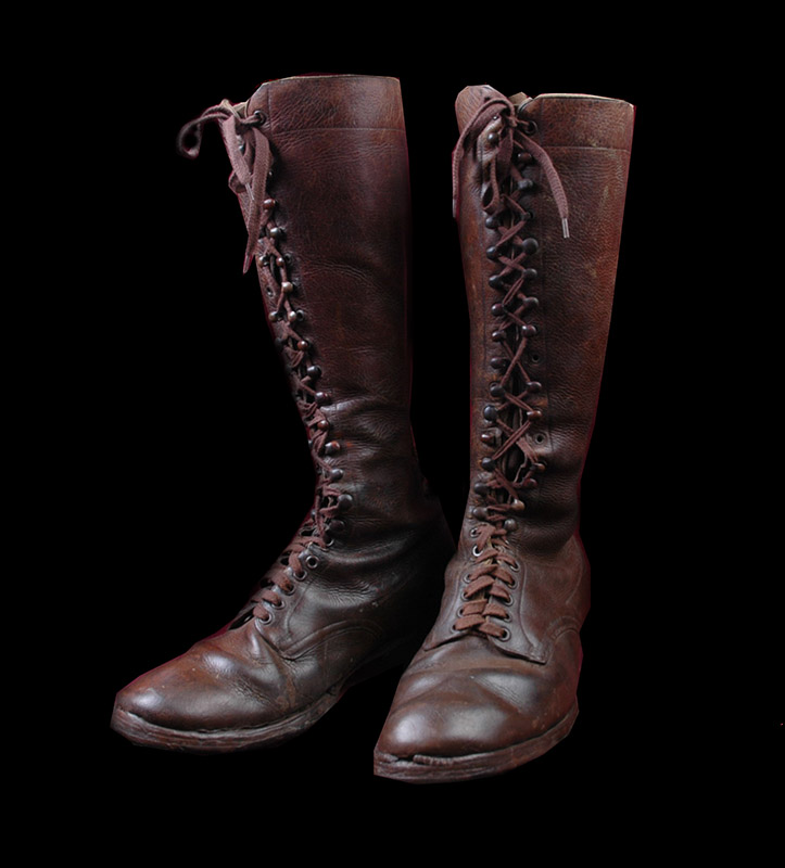 SA  Kampfzeit Boots. Brown Leather.