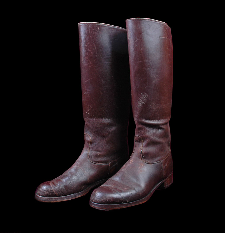 SA  Jackboots. Brown Leather.