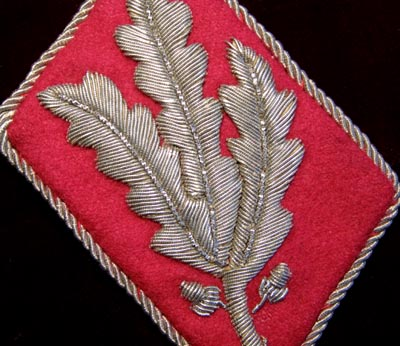 SA Gruppenführer Collar Patch. Staff of SA HQs.