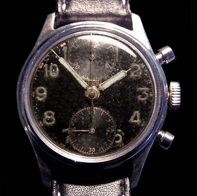 Luftwaffe Chronograph By Heuer. Double-Pusher. Circa 1939.