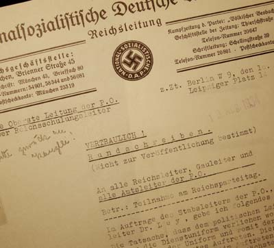 NSDAP Reichsparteitage Document Regarding Wearing Uniforms.