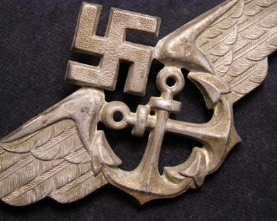 Luftwaffe Air / Sea Services Visor Cap Insignia.