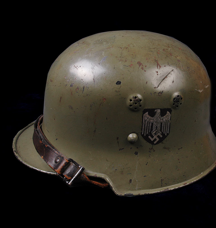 German Steel Helmet. Double-Decal. Army Parade.
