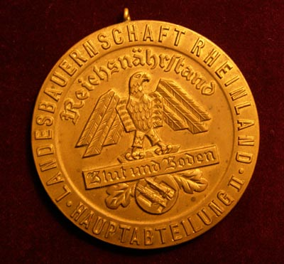 Reichsnährstand (Rural Affairs)) Medallion for Horse Breeding.