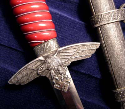 Luftwaffe Dagger. 2nd Pattern By Alcoso - Special Red Ivorine Grip & Presentation Case.