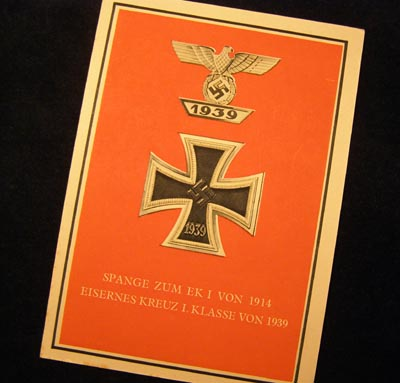 Iron Cross & Bar Postcard.