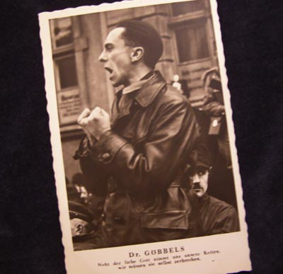 Dr.Goebbels Postcard Black & White.