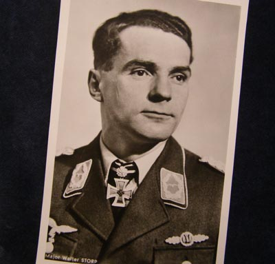 Luftwaffe Major Walter Storp Postcard.