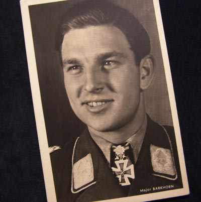 Luftwaffe Major Barkhorn Postcard.