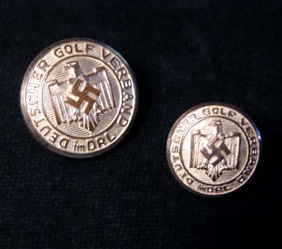 Third Reich Golf Association Buttons.