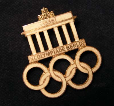 1936 Olympics, Staff Badge.