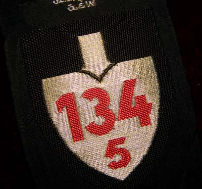 RAD (Reichsarbeitsdienst) Officers Woven Sleeve Shield '134' Over '5'