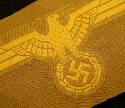 Kriegsmarine Tropical Coastal Artillery Breast Eagle & Swastika.