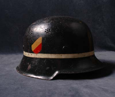 Luftwaffe Helmet |  Airfield Fire Service | Double Decal