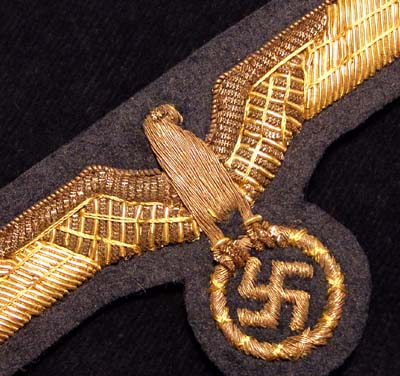 Heer General's Golden Wire Eagle/Swastika
