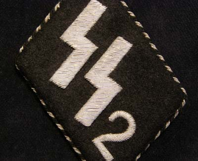 SS-VT 'Germania' Number '2' NCO Collar Patch.