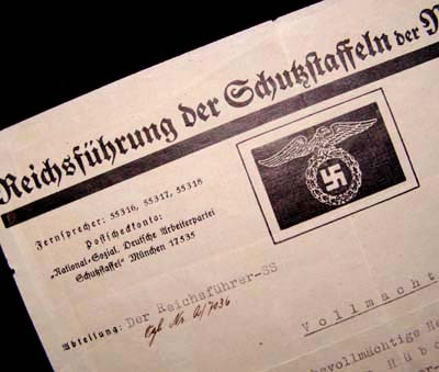Himmler's Signature. Hand-Signed Document. Great Content.
