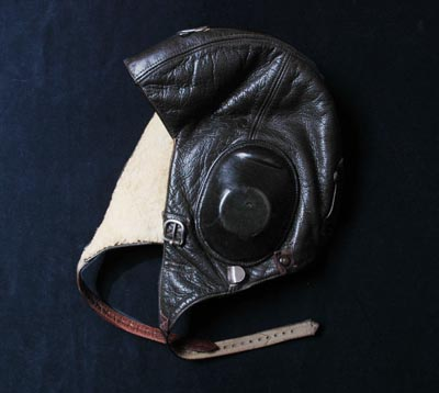 Luftwaffe Leather Flying Helmet.