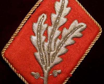 SA Gruppenführer Collar Patch. Staff of SA.