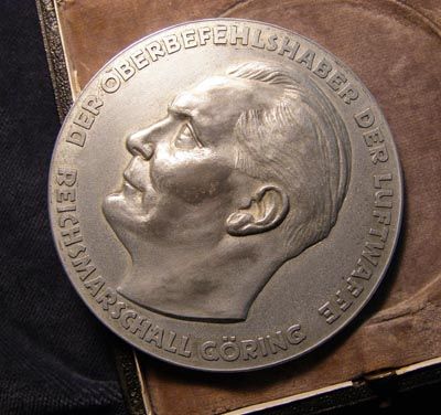 Luftwaffe Herman Goring Outstanding Technical Achievement Plaque Cased.