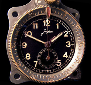 ME109 Luftwaffe Aircraft Clock. Junghans FL 23885. Version 3a.