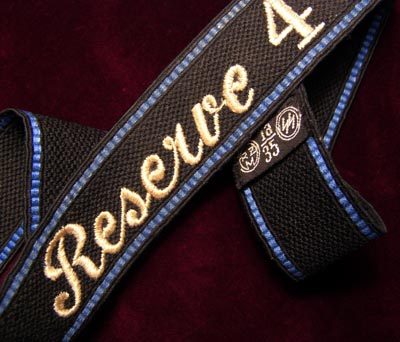 Allgemeine-SS OR/NCO Reserve Sturmbann 4 Machine-Embroidered Cuff Title.