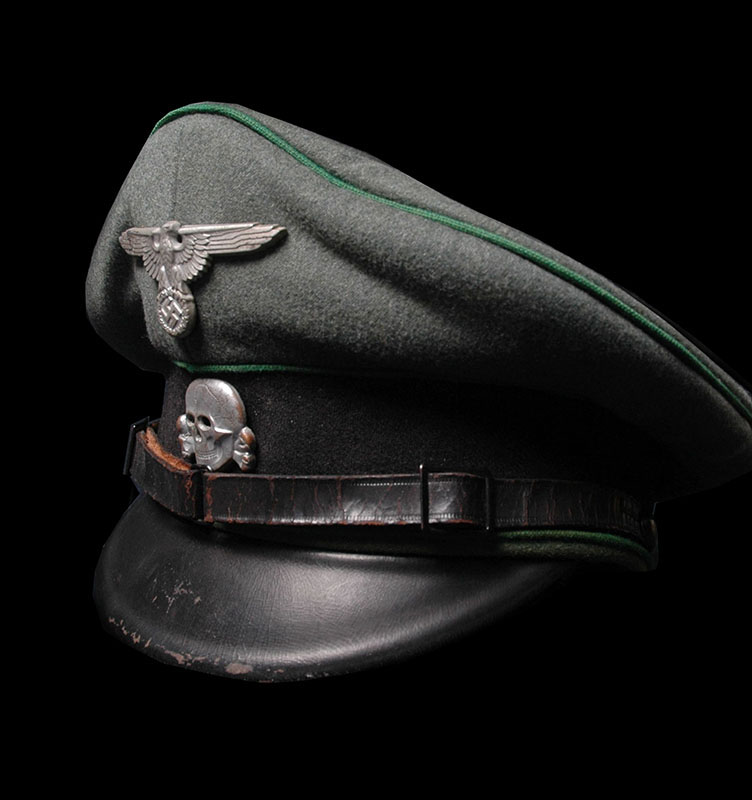 SS Security Service (SD) OR/NCO Visor Cap.