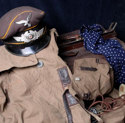 Luftwaffe Flyer's Flight Bag & Contents - Attributed - Interesting Provenance.