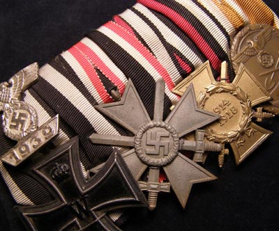 Iron Cross & Bar Medal Group. 4 Medals . Court Mounted.
