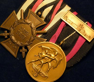 Cross Of Honour & Entry Into Czechoslovakia With Prag Bar Medal Pair Pair Medals.