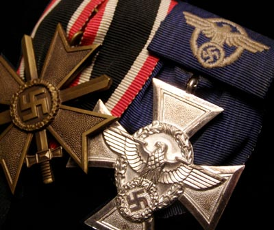War Merit Cross & Polizei Long Service Pair Medals.