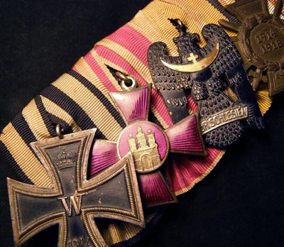 Imperial German Iron Cross  Medal Group Of Four.