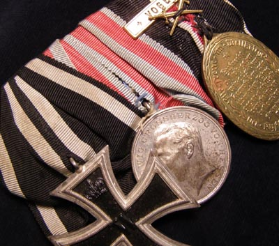 Imperial German Iron Cross Medal Group Of Three.