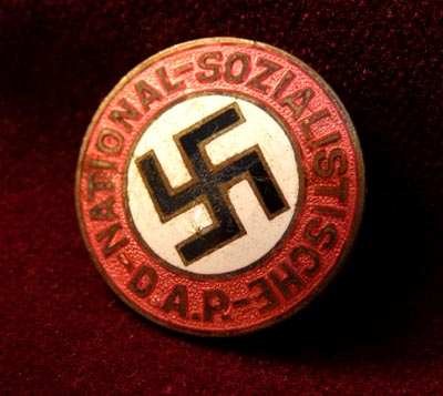 NSDAP Party Membership Badge - Early Pre-RZM Version.