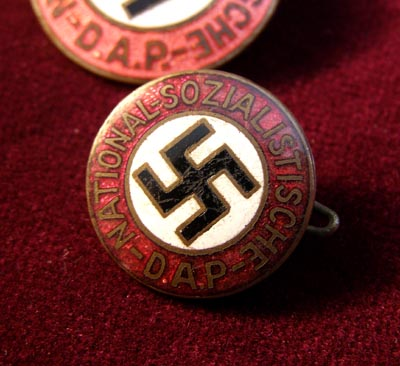 NSDAP Party Membership Badge - Early Pre-RZM Version. 16mm Version.