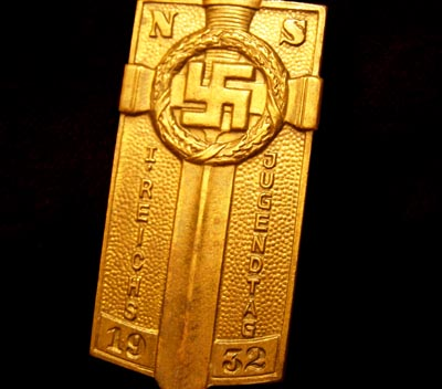 Hitler Youth 1932 Rally Badge.