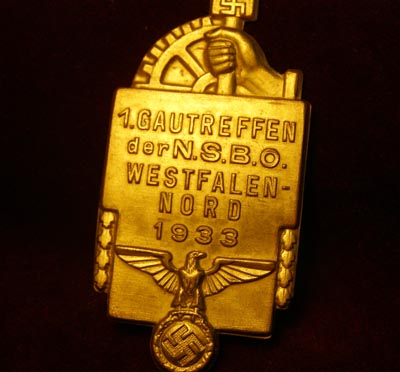 NSBO Gautreffen Westfalen 1933. Rally Badge.