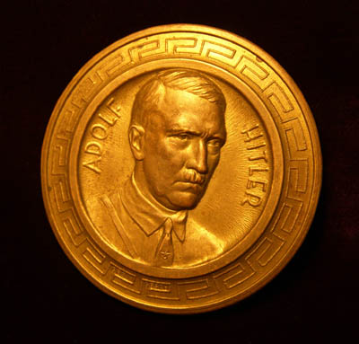 Adolf Hitler  Plaquette | Gilt