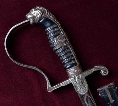 SS Officer 'Silver Hilt' Sword With Early Eagle Guard.