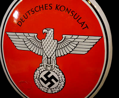 Third Reich Deutsche Konsulate Enamel Sign