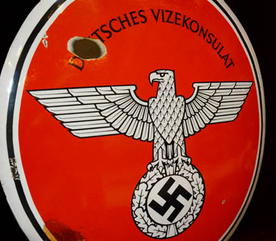 Third Reich Deutsche Vizekonsulate Enamel Sign