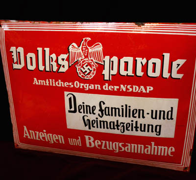 Third Reich Publishing Enamel Sign
