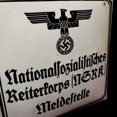 Third Reich NSRK Enamel Sign