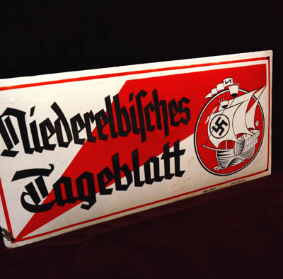 Enamel Newspaper Sign | NSDAP