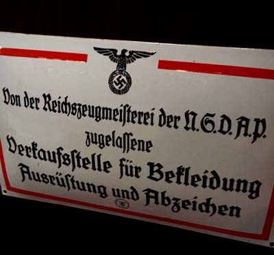 Third Reich Shop Enamel Sign | RZM