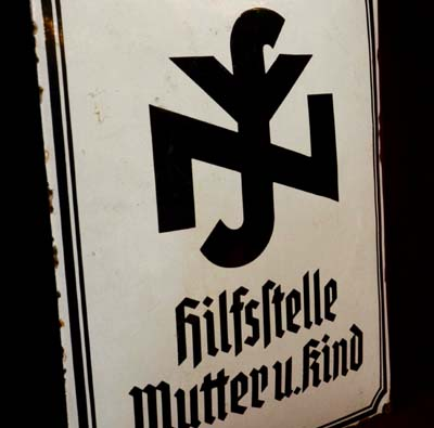 Third Reich Hilfstelle (Social Welfare) Enamel Sign